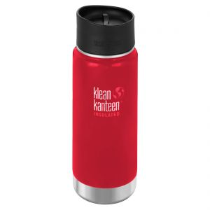 Klean Kanteen Gourde isolante à goulot large 473 ml avec bouchon Café 2.0 Mineral Red