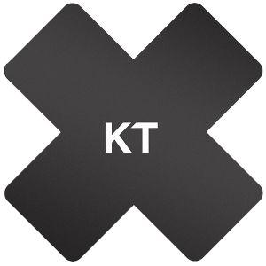 KT Tape Pro-X Lot de 15 patchs thérapeutiques adhésifs en matériau synthétique noirs