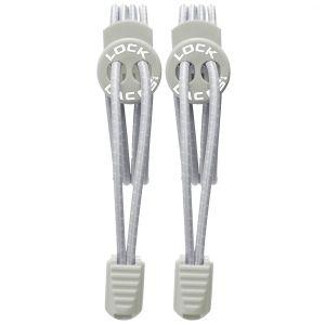 Lock Laces Lacets élastiques sans noeud gris