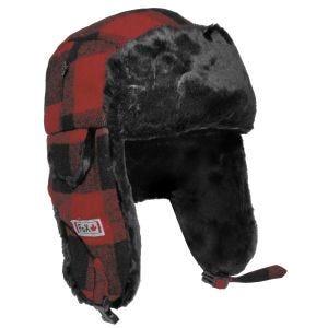 Fox Outdoor Chapka en fourrure rouge/noire