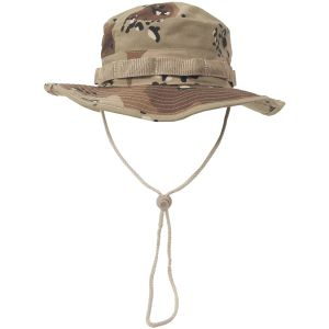 MFH Chapeau de brousse GI en Ripstop Desert à 6 couleurs