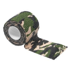MFH Ruban en tissu auto-adhésif de camouflage 5 cm x 4,5 m Woodland