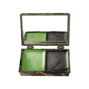 Mil-Tec Maquillage de camouflage 2 couleurs pour le visage avec miroir Woodland