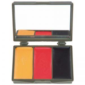 Mil-Tec Maquillage de camouflage 3 couleurs pour le visage avec miroir BW Army