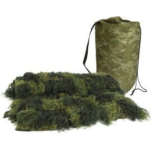 Mil-Tec Couverture Ghillie Anti Fire 140 x 100 cm Woodland