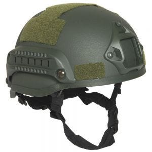 Mil-Tec Casque de combat US M.I.C.H. 2002 avec rails vert olive