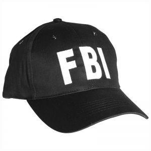 Mil-Tec Casquette FBI avec bande en plastique noire