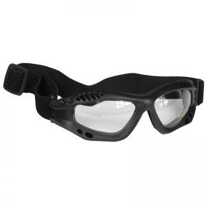 Mil-Tec Lunettes de protection à verres transparents Commando Air Pro noires