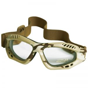 Mil-Tec Lunettes de protection à verres transparents Commando Air Pro Desert