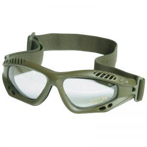 Mil-Tec Lunettes de protection à verres transparents Commando Air Pro vert olive