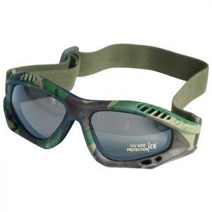 Mil-Tec Lunettes de protection à verres fumés Commando Air Pro Woodland