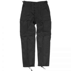Mil-Tec Pantalon de combat zippé noir