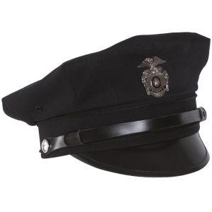Mil-Tec Casquette de policier US avec visière bleu foncé