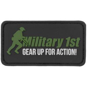 Military 1st Écusson Gear Up For Action noir/blanc/vert