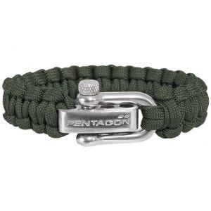 Pentagon Bracelet de survie Camo Green
