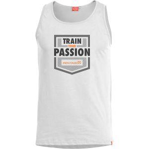 Pentagon Débardeur Astir motif Train Your Passion blanc
