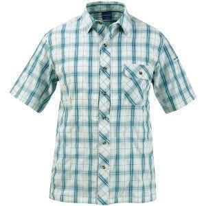 Propper Chemise Covert boutonnée à manches courtes Plaid bleu canard