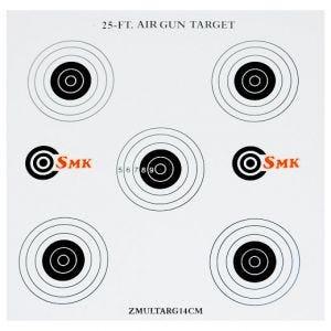 SMK Lot de 100 cibles en carton 25ft 14 cm