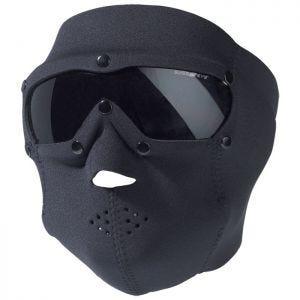 Swiss Eye Masque en néoprène couvrant le visage avec masque pour les yeux à verres fumés intégré noir