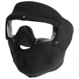 Swiss Eye Masque en néoprène couvrant le visage avec masque pour les yeux à verres transparents intégré noir