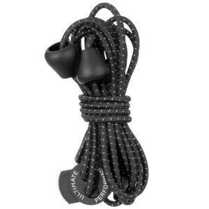 Ultimate Performance Lacets élastiques réfléchissants noirs