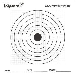 Viper Lot de 100 cibles en papier 17 cm