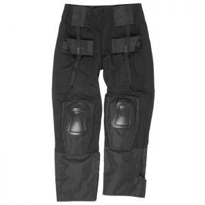Mil-Tec Pantalon Warrior avec genouillères noir