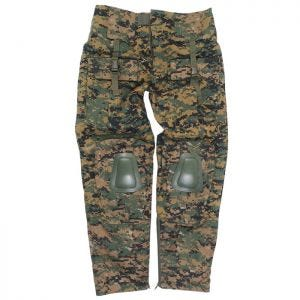 Mil-Tec Pantalon Warrior avec genouillères Digital Woodland