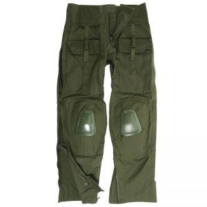 Mil-Tec Pantalon Warrior avec genouillères vert olive