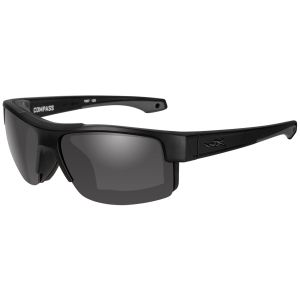 Wiley X WX Compass Glasses - Smoke Gris Lens / Noire Mate Frame