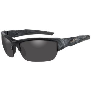 Wiley X WX Valor Polarized Glasses - Smoke Gris Lens / Kryptek Typhon Frame